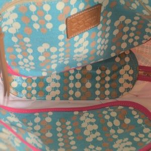 Fossil Bags - Fossil tote, large, canvas coated, colorful abstra